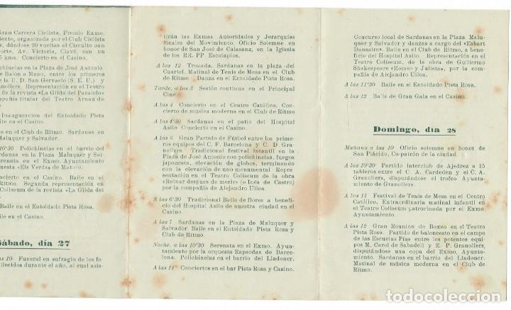 Coleccionismo: Fiesta Mayor de Granollers 24-25-26-27 y 28 Agosto 1949 - Foto 3 - 171513932