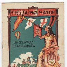 Coleccionismo: PROGRAMA / FIESTA MAYOR 1947 UNA DE LAS MÁS TÍPICAS DE CATALUÑA - ARBÓS DEL PANADÉS. Lote 171620568