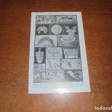 Coleccionismo: ANTIGUA LÁMINA: ANIMALES (ORNAMENTOS) I Y II. Lote 171639789