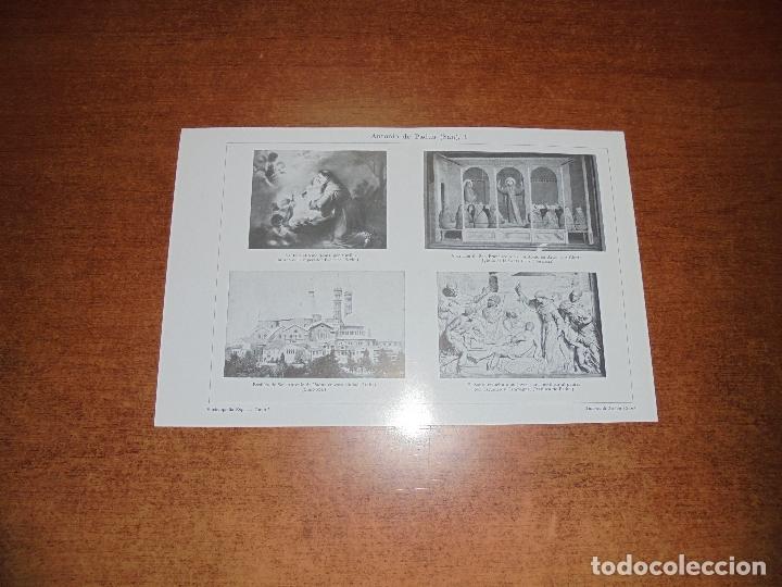 ANTIGUA LÁMINA: SAN ANTONIO DE PADUA I Y II (Coleccionismo - Laminas, Programas y Otros Documentos)