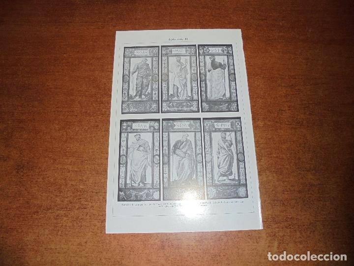 Coleccionismo: ANTIGUA LÁMINA: APÓSTOLES I, II, III Y IV ESMALTES DE LIMOGES Y MEDALLONES DE LOZA VIDRIADA POR L. D - Foto 2 - 171640295