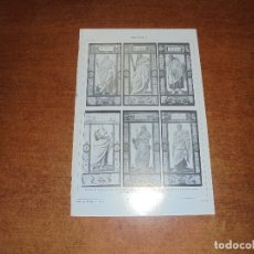Coleccionismo: ANTIGUA LÁMINA: APÓSTOLES I, II, III Y IV ESMALTES DE LIMOGES Y MEDALLONES DE LOZA VIDRIADA POR L. D. Lote 171640295