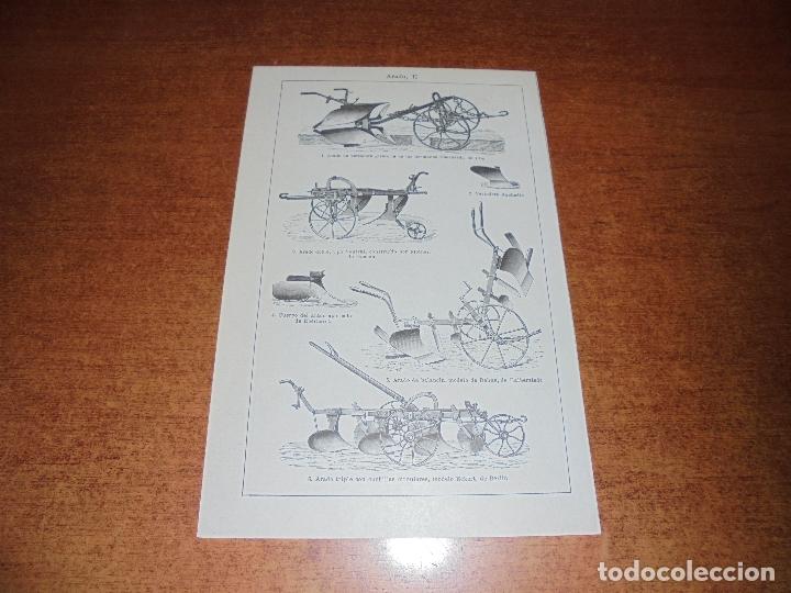 Coleccionismo: ANTIGUA LÁMINA: TIPOS DE ARADO - Foto 3 - 171640393