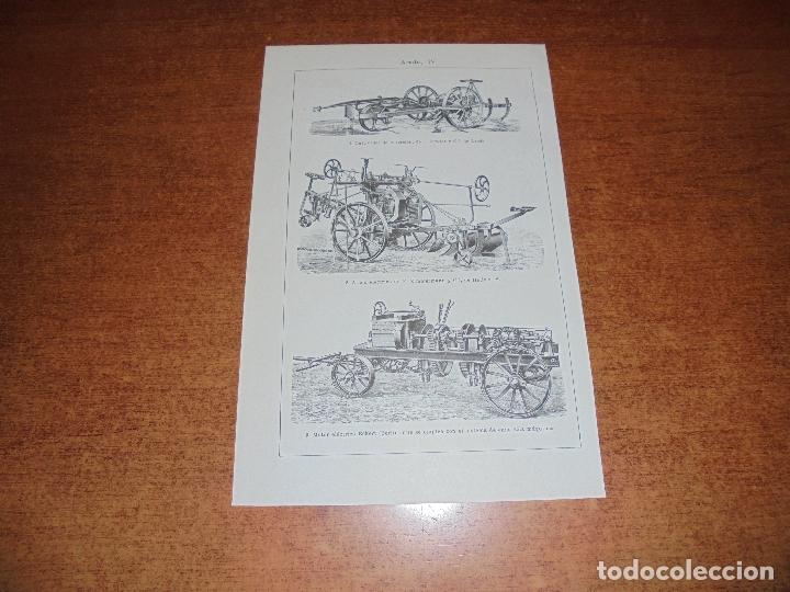 Coleccionismo: ANTIGUA LÁMINA: TIPOS DE ARADO - Foto 5 - 171640393