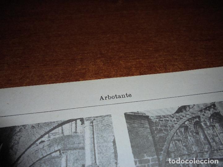 Coleccionismo: ANTIGUA LÁMINA: ARBOTANTE. CATEDRAL DE ÁVILA. CHARTRES. REIMS. MILÁN. AMIENS. IGLESIA DE LOUVIERS - Foto 3 - 171640740