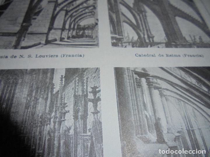 Coleccionismo: ANTIGUA LÁMINA: ARBOTANTE. CATEDRAL DE ÁVILA. CHARTRES. REIMS. MILÁN. AMIENS. IGLESIA DE LOUVIERS - Foto 4 - 171640740