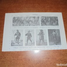 Coleccionismo: ANTIGUA LÁMINA: ARCABUCEROS. . Lote 171640754