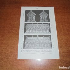 Coleccionismo: ANTIGUA LÁMINA: ARCA DE CARLOMAGNO - ARCA RELICARIO DE MARÍA. Lote 171640783