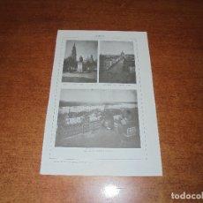 Coleccionismo: ANTIGUA LÁMINA: ÁMBERES. PLAZA VERDE, ESTATUA DE RUBENS Y CATDRAL. AV. KEISER. CASAS CONSISTORIALES . Lote 171640878