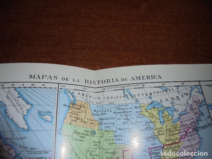 Coleccionismo: ANTIGUA LÁMINA: MAPAS DE LA HISTORIA DE AMÉRICA - Foto 2 - 171641790