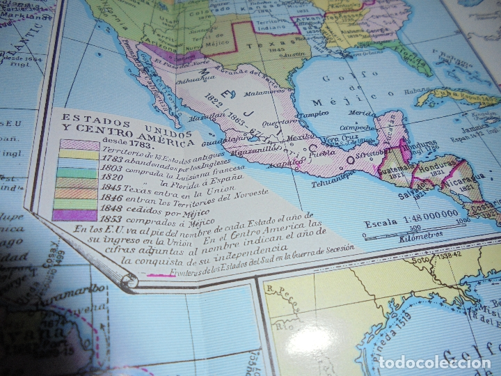 Coleccionismo: ANTIGUA LÁMINA: MAPAS DE LA HISTORIA DE AMÉRICA - Foto 4 - 171641790