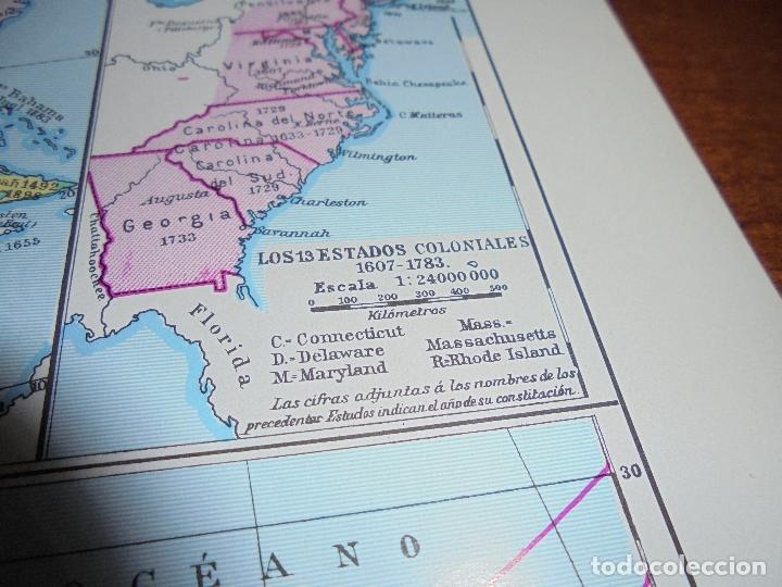 Coleccionismo: ANTIGUA LÁMINA: MAPAS DE LA HISTORIA DE AMÉRICA - Foto 5 - 171641790