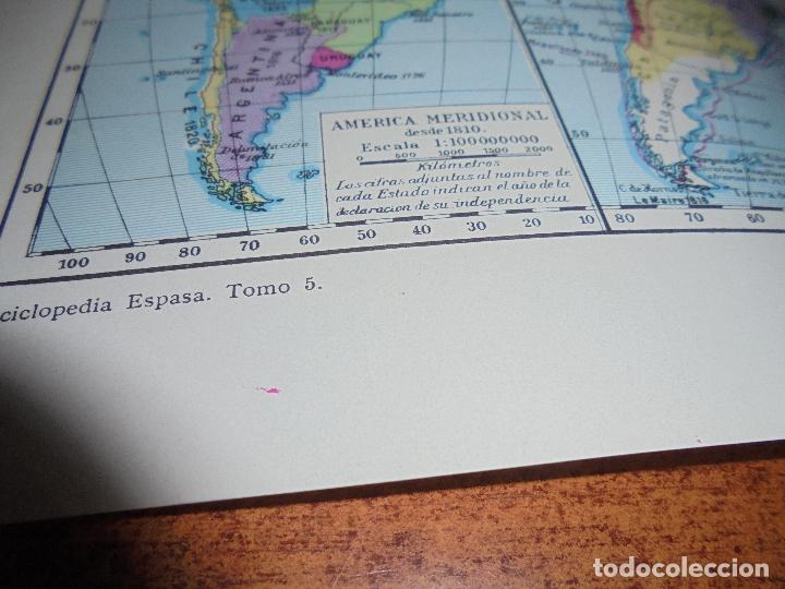 Coleccionismo: ANTIGUA LÁMINA: MAPAS DE LA HISTORIA DE AMÉRICA - Foto 6 - 171641790