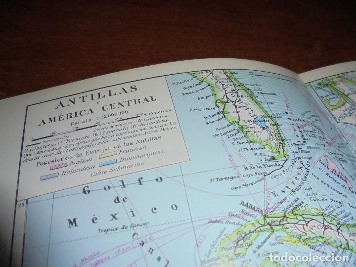 Coleccionismo: ANTIGUA LÁMINA: MAPAS ANTILLA Y AMÉRICA CENTRAL. CANAL DE PANAMÁ. - Foto 2 - 171641895