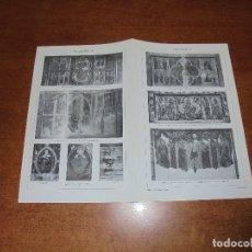 Coleccionismo: ANTIGUA LÁMINA: ANTIPENDIUM I Y II VICH. LÉRIDA. BARCELONA. MUNSTER. BAJA SAJONIA.. Lote 171642044