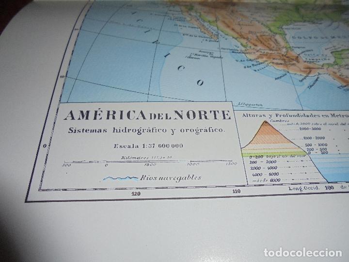 Coleccionismo: ANTIGUA LÁMINA: MAPA SISTEMAS HIDROGRÁFICO Y OROGRÁFICO DE AMÉRICA DEL NORTE Y DEL SUR. - Foto 2 - 171642500