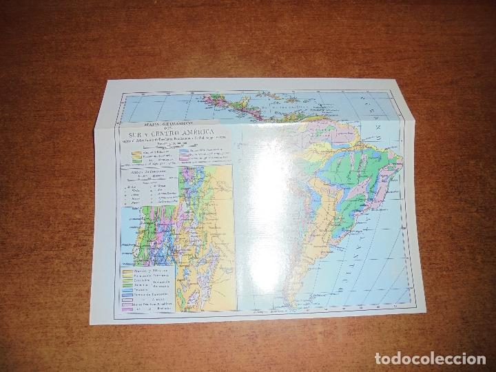 Coleccionismo: ANTIGUA LÁMINA: MAPA GEOLÓGICO DE LA AMÉRICA DEL NORTE Y DEL SUR Y CENTRO AMÉRICA - Foto 3 - 171642518