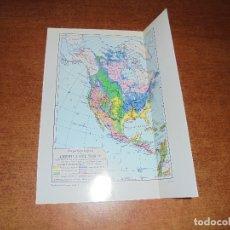 Coleccionismo: ANTIGUA LÁMINA: MAPA GEOLÓGICO DE LA AMÉRICA DEL NORTE Y DEL SUR Y CENTRO AMÉRICA. Lote 171642518