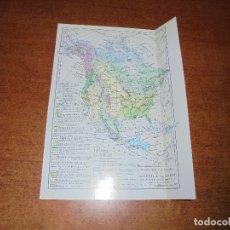 Coleccionismo: ANTIGUA LÁMINA: MAPA DE LA FLORA DE LA AMÉRICA DEL NORTE, DEL SUR Y CENTRO AMÉRICA. Lote 171642529