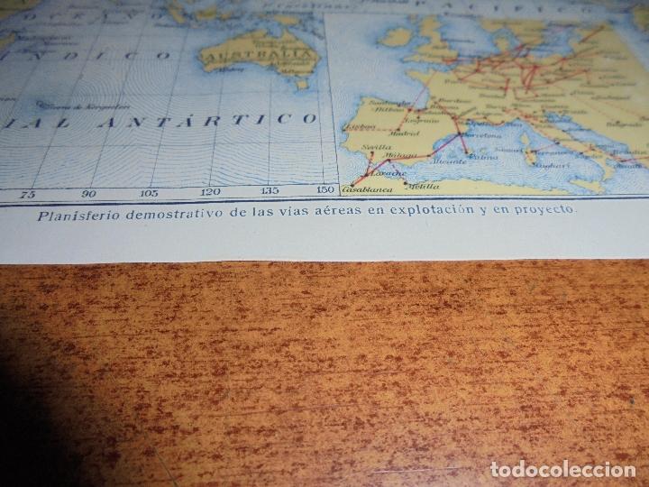 Coleccionismo: ANTIGUA LÁMINA DE 1919: VÍAS AÉREAS. AEROPLANO. MONOPLANO. HIDROPLANO. AVIÓN CORREO. DIRIGIBLE. - Foto 5 - 171642754