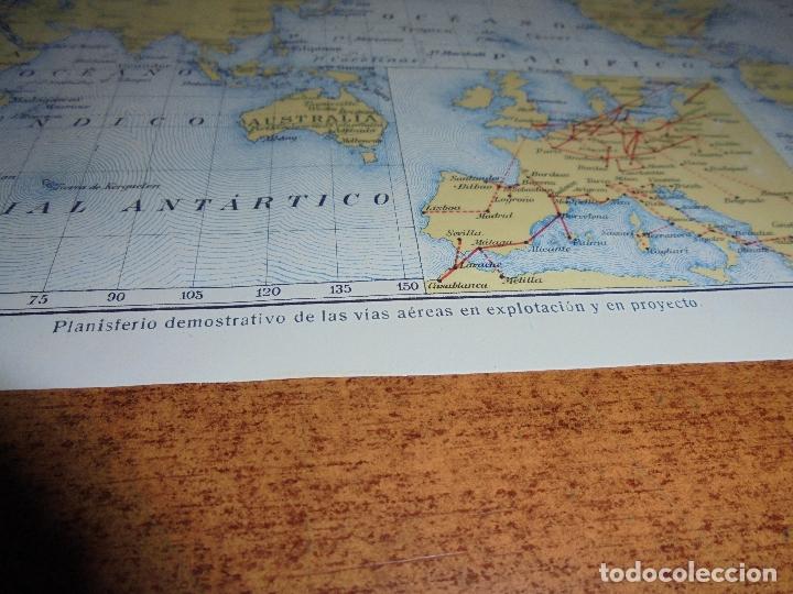 Coleccionismo: ANTIGUA LÁMINA DE 1919: VÍAS AÉREAS. AEROPLANO. MONOPLANO. HIDROPLANO. AVIÓN CORREO. DIRIGIBLE. - Foto 6 - 171642754