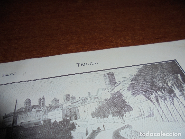 Coleccionismo: ANTIGUA LÁMINA DE 1919: TERUEL. PASEO DEL ÓVALO. TORRE DE SAN MARTÍN. LOS ARCOS. ESCUELAS GRADUADAS. - Foto 2 - 171642783