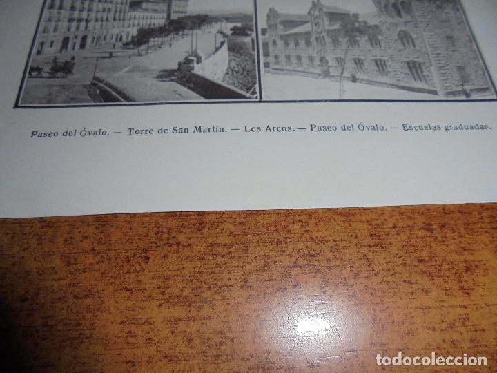 Coleccionismo: ANTIGUA LÁMINA DE 1919: TERUEL. PASEO DEL ÓVALO. TORRE DE SAN MARTÍN. LOS ARCOS. ESCUELAS GRADUADAS. - Foto 3 - 171642783