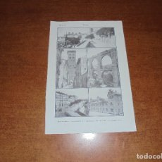 Coleccionismo: ANTIGUA LÁMINA DE 1919: TERUEL. PASEO DEL ÓVALO. TORRE DE SAN MARTÍN. LOS ARCOS. ESCUELAS GRADUADAS.. Lote 171642783