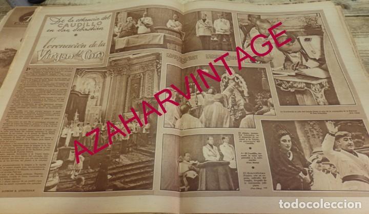 SAN SEBASTIAN, 1940, DOBLE HOJA DE PERIODICO, CORONACION VIRGEN DEL CORO, MUY RARA (Coleccionismo - Laminas, Programas y Otros Documentos)