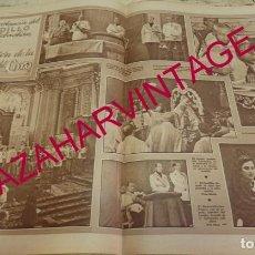 Coleccionismo: SAN SEBASTIAN, 1940, DOBLE HOJA DE PERIODICO, CORONACION VIRGEN DEL CORO, MUY RARA. Lote 171675857