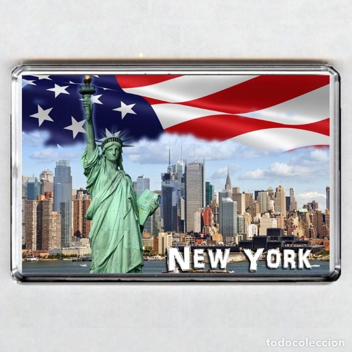 IMAN ACRÍLICO NEVERA - NEW YORK (USA) (Coleccionismo - Varios)