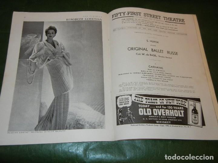 Coleccionismo: PROGRAMA FIFTY-FIRST STREET THEATRE NUEVA YORK - BALLET RUSSE 1940 - Foto 2 - 171826693