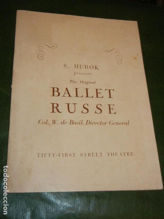 PROGRAMA FIFTY-FIRST STREET THEATRE NUEVA YORK - BALLET RUSSE 1940 (Coleccionismo - Laminas, Programas y Otros Documentos)