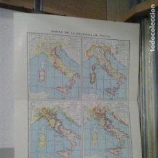 Coleccionismo: LMV - LÁMINA. MAPAS DE LA HISTORIA DE ITALIA, 24 X 31 CM. Lote 171850715