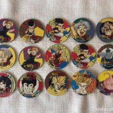 Coleccionismo: LOTE 15 TAZOS DRAGON BALL Z CAPS - AZULES DRAGON HERO. Lote 172157699