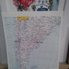 Coleccionismo: LMV - LÁMINA. MAPA DE ARGENTINA, CHILE, URUGUAY. Lote 172195317