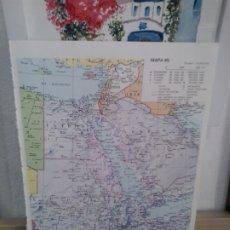 Coleccionismo: LMV - LÁMINA. MAPA DE ÁFRICA DEL NORTE ORIENTAL. Lote 172196409