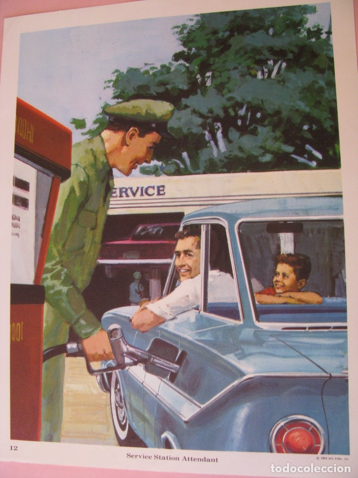 Coleccionismo: 12 LAMINAS DE DE DCC PUBL. CO. EE.UU. 1964. 35X27 CM. SERIE OCUPACIONES, PROFESIONES. - Foto 7 - 172394680