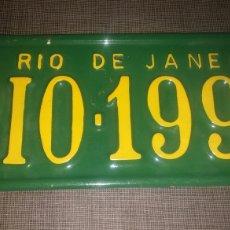 Coleccionismo: CHAPA MATRICULA RIO DE JANEIRO. Lote 172401812