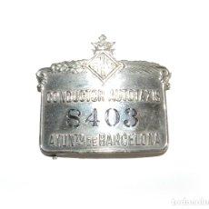 Coleccionismo: PLACA TAXI BARCELONA AÑOS 40.. Lote 172460007