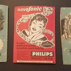 Coleccionismo: 3 HOJAS CARTULINAS PUBLICIDAD RADIOS PHILIPS AÑOS 50. Lote 172520513
