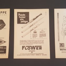 Coleccionismo: 3 HOJAS PUBLICIDAD RELOJ PATEK PHILIPPE, FILTRO FLOWER Y GENERAL MOTORS AÑOS 50. Lote 172616639