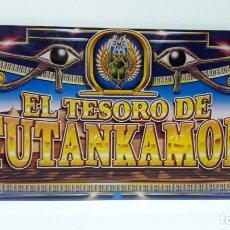 Coleccionismo: ROTULO FRONTAL DE UNA MAQUINA TRAGAPERRAS - EL TESORO DE TUTANKAMON . REALIZADO EN METACRILATO. Lote 172643164
