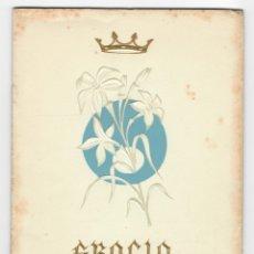 Coleccionismo: PROGRAMA DE FIESTAS DE GRACIA / FIESTA MAYOR - AGOSTO 1959. Lote 172991119