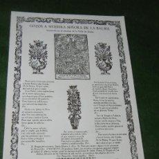 Coleccionismo: GOIGS-GOZOS A NUESTRA SEÑORA DE LA BALMA, ZURITA, RICARD VIVES NUM.980 1978. Lote 173015453