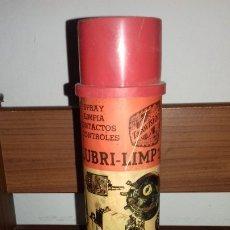 Coleccionismo: ANTIGUO BOTE METAL DE LUBRICANTE ACEITE PARA MOTOR LUBRI-LIMP1 DE TASOVISION AÑOS 70.VACIO. Lote 173027107