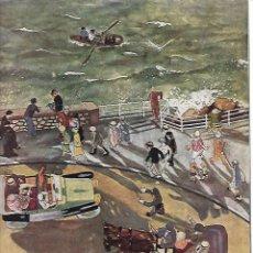 Coleccionismo: AÑO 1919 RECORTE PRENSA DIBUJO CARICATURA PASEO SAN SEBASTIAN PEDRO ANTEQUERA AZPIRI. Lote 173029270