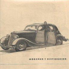 Coleccionismo: AÑO 1934 RECORTE PRENSA PUBLICIDAD NUEVO FORD V 8 COCHE MODERNO AUTOMOVIL. Lote 173077518