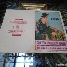 Coleccionismo: 1939 PROGRAMA GRAN FERIA Y MERCADO DE GANADOS ECIJA CORRIDAS TOROS PARTIDOS FUTBOL COCHE CICLISMO. Lote 173379845
