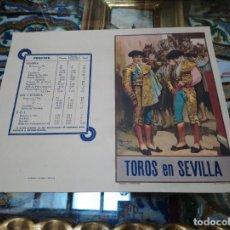 Coleccionismo: 1938 TOROS EN SEVILLA CORRIDA DEL CORPUS TORERITO DE TRIANA RAFAEL PONCE RAFAELILLO PASCUAL MARQUEZ. Lote 173380517